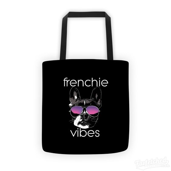 """""""Frenchie Vibes"""" Eco-Friendly Dog Lovers Carry All Bag"""