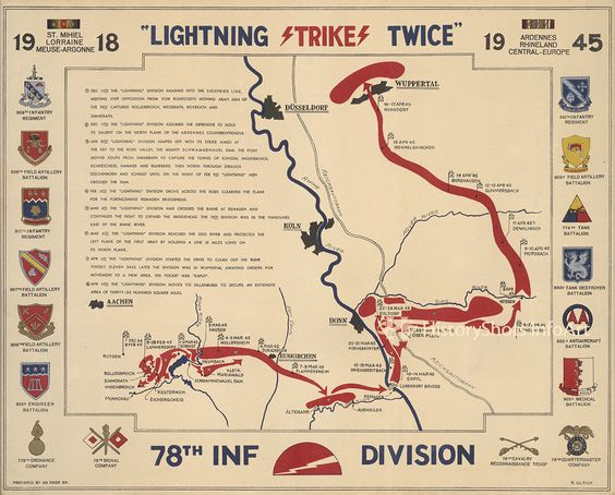 78th Infantry Division Campaign Map Division Campaign and Army