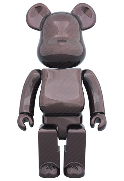MEDICOM TOY - BE@RBRICK 400% DRY CARBON RED