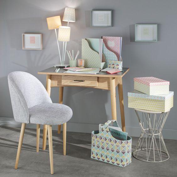 chaise vintage en tissu et mauricette office pinterest gris m taux et tables. Black Bedroom Furniture Sets. Home Design Ideas