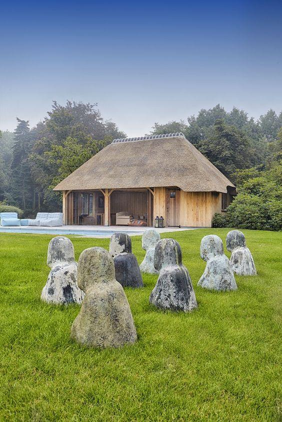 De Boomkamer bijgebouwen Poolhouse, tuinkamer, terrasoverkapping - pool mit glaswand garten