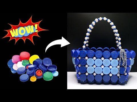 Beautiful Bag From Bottle Caps Bottle Caps Diy Ideas Best Out