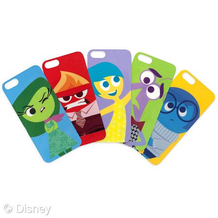 Inside Out iPhone 5/5S Case  SRP: $19.95  Retailers: Disney Store and DisneyStore.com Available: Now  Dial up your emotions with a clear case that comes with five interchangeable designs featuring Joy, Anger, Sadness, Disgust and Fear.