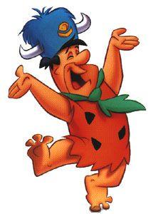 Fred Flintstone in his Water Buffalo Hat