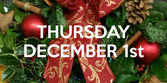 The Lodge. Kentfield Country Estate.7pm start. Please arrive at 6.45pm.Come and create some wonderful Christmas memories of your very own in this fun and intimate class.You can enjoy a glass of bubbles as Heidi guides you step by step through each stage of the design. You will learn how to create your very own Christmas door wreath by transforming a simple metal ring in to the most beautiful design. We will use lovely seasonal foliages accompanied by a fabulous selection...