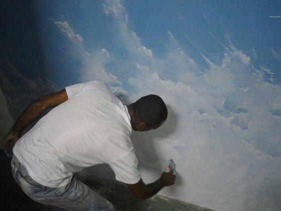 Sky , céu, street art, graffiti