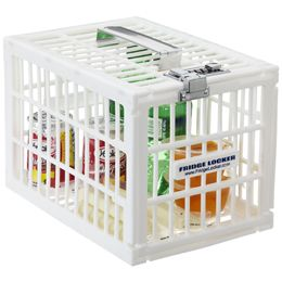 Stop coworkers from getting their paws on YOUR lunch/snacks at the office with the ingenious Fridge Locker™ from Container Store. The best $20 I've spent.