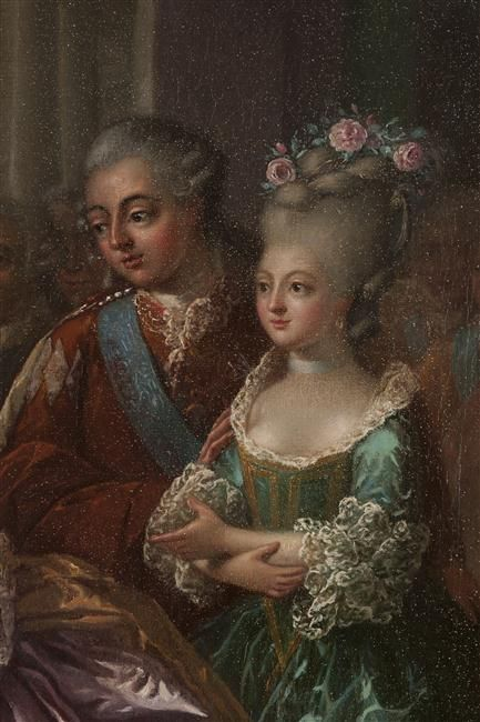 Detail of the Comte d'Artois and Madame Elisabeth, 1782