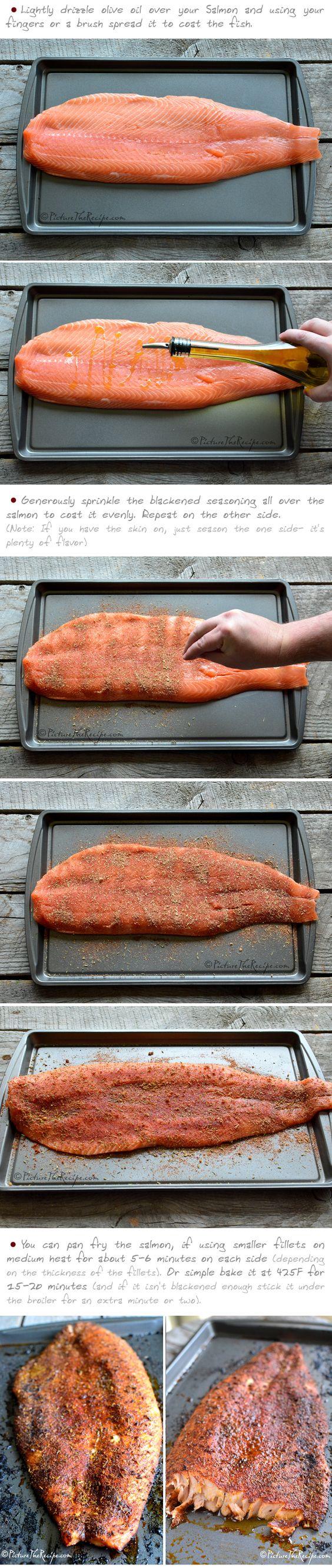 Blackened Salmon Recipe (Part-2) - PictureTheRecipe.com