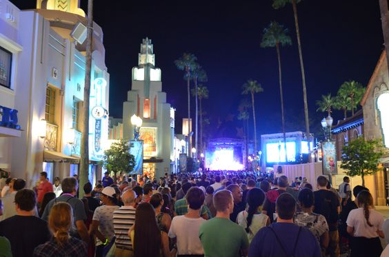 """Hollywood Studios Frozen Spectacular Firework show.  Just look at the amount of people.  We arrived late and were very very close to the beginning of """"main street"""" far from the stage. There was a sea of people but our view of the fireworks was not compromised."""