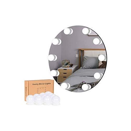 Livecomfort Vanity Lights Hollywood Style Adjustable Vanity Mirror Lights With 10 Dimmable Led Bulbs 10 Mirror With Lights Led Vanity Vanity Mirror