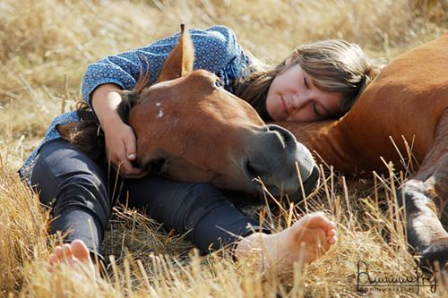 When you have gained the trust of a horse and are able to take a nap with them.. You have conquered the world.. You have made a best friend.. You are forever one.. Abounding in love for one another.. I love you Mofaith 3/31