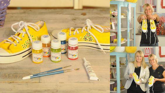 Como Pintar Zapatillas - Pinturas Javana -