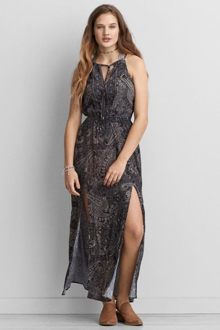 American Eagle Outfitters AE Hi-Neck Maxi Dress