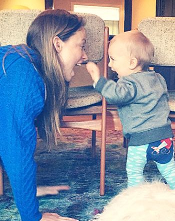 Baby Otis must be really excited for his birthday! Olivia Wilde shared an adorable, and very rare, photo of her 11-month-old son via Instagram on Wednesday, April 1.