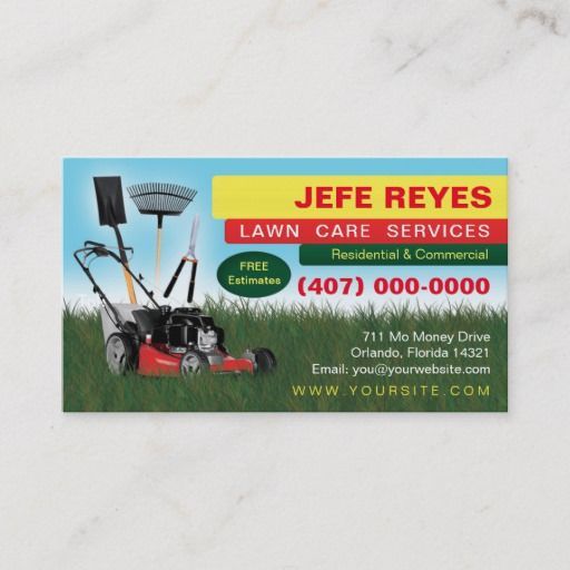 Landscaping Lawn Care Mower Business Card Template Zazzle Com In 2020 Lawn Care Business Cards Lawn Care Landscaping Business Cards