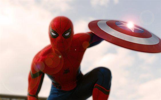 Download Wallpapers Spider Man Superheroes Captain America Civil War Spiderman Captain America Shield Besthqwallpapers Com Captain America Wallpaper Captain America Civil War Captain America