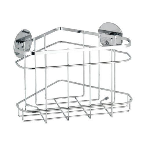 Wenko Wall Mounted Shower Shelf Turbo Loc Made Of Stainless Steel