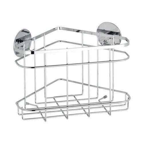 Wenko Wall Mounted Shower Shelf Turbo Loc Made Of Stainless Steel Wayfair De Wall Mounted In 2020 Shower Caddy Corner Shower Caddy Hanging Shower Caddy