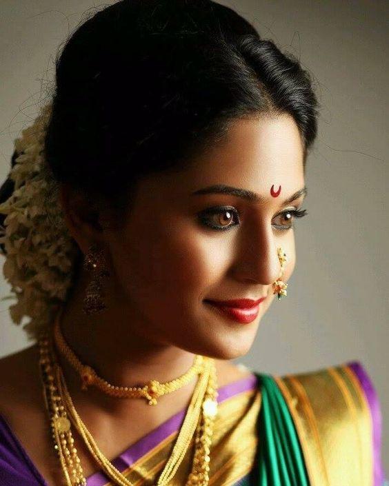 Maharashtrian bridal makeup get the perfect look in 10 easy steps - Marathi Actress Marathi Masala Pinterest