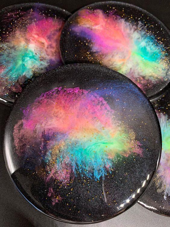 Galaxy Themed resin coasters