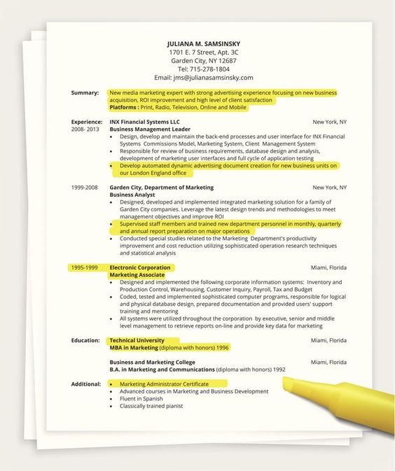 Tips for Writing a One Page Resume - mobile testing resume
