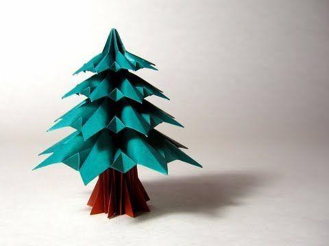 Tutoriel vid o en fran ais origami pinterest arbres de no l vid os et tutoriels - Arbre de noel origami ...