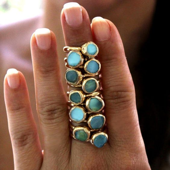 Gorgeous blue Andean opal rings from InbalMishan. https://www.etsy.com/uk/listing/472299257/blue-peruvian-opal-ring-opal-ring-gold?ref=shop_home_active_3