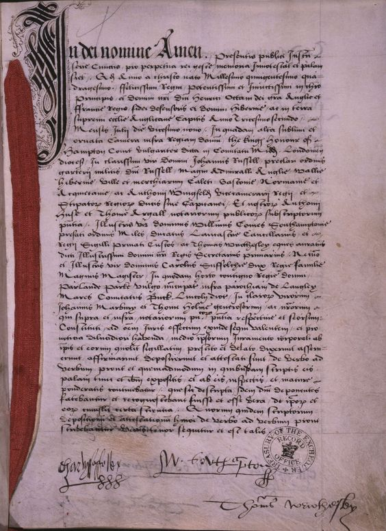 However, Henry felt that he had been deceived as, in addition to her not being able to speak a word of English, Anne's upbringing had been so sheltered that she was ignorant of the facts of life and their wedding night was a disaster. Humiliated, Henry filed for an annulment on ground of non-consummation. This letter from Henry to Anne (E 30/1472/3) preceded the application for divorce.