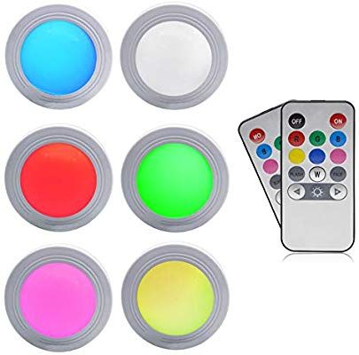 Amazon Com Greesuit Battery Powered Led Puck Lights Under Cabinet
