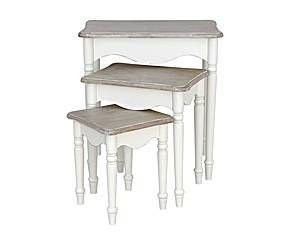 3 tables gigognes bois blanc tables gigognes repeindre pinterest t - Tables gigognes bois ...
