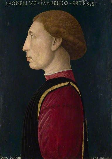Giovvani da Oriolo, Leonello d'Este, 1460, National Gallery, London