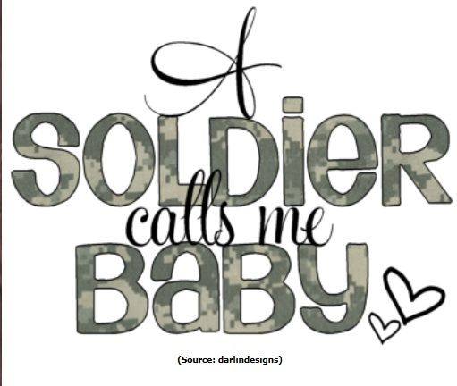 A soldier calls me Baby.