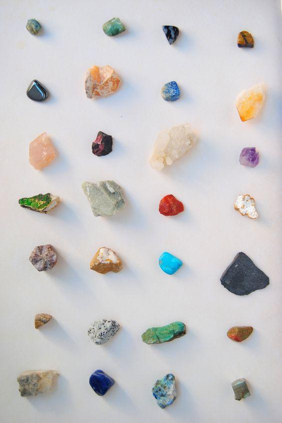 Póster de minerales - Tantos años coleecionándolos sirvieron para algo