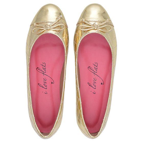 iLoveFlats - Ballerina Matelassê Dourada - iloveflats