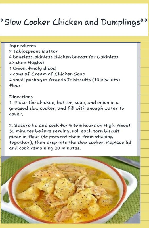 Chicken and dumplings, Slow cooker chicken and Dumpling on Pinterest