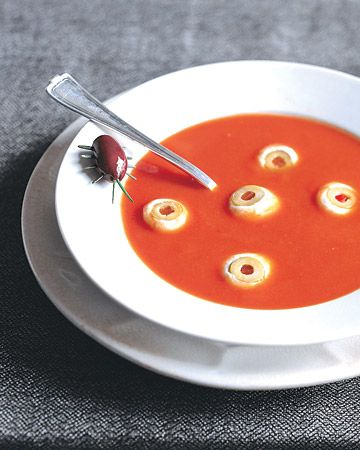 A bowl of hot tomato soup will leave you cold if it stares back.