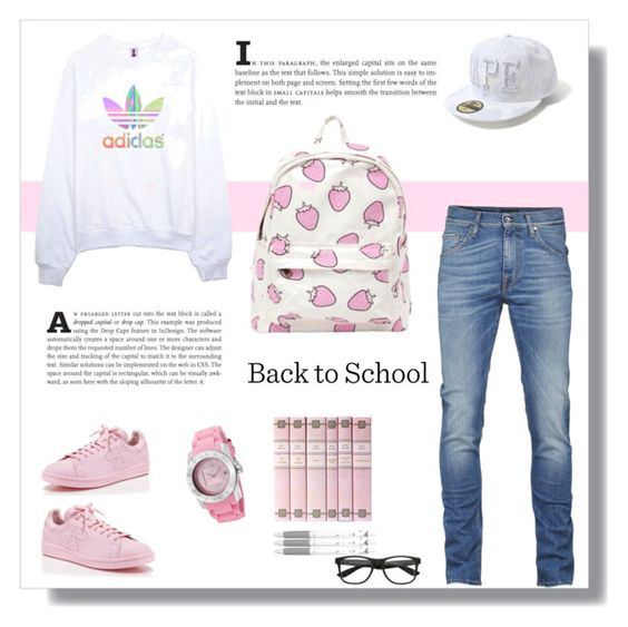 """""""Back to School: New Backpack"""" by aneetaalex ❤ liked on Polyvore featuring adidas, Swiss Legend and Pilot"""