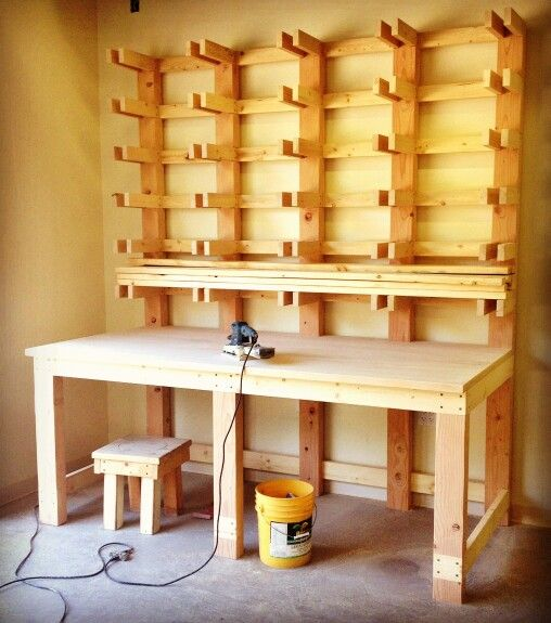 Lumber storage rack my woodworking projects pinterest for Mobile lumber storage rack plans