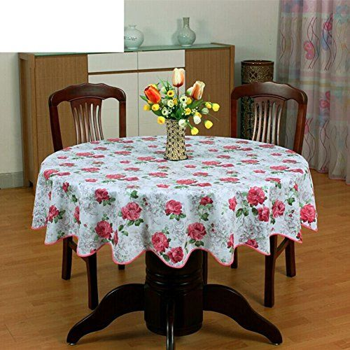 Xkqwan Pvc Table Cloth Round Table Cloth For Hotels Waterproof Oil