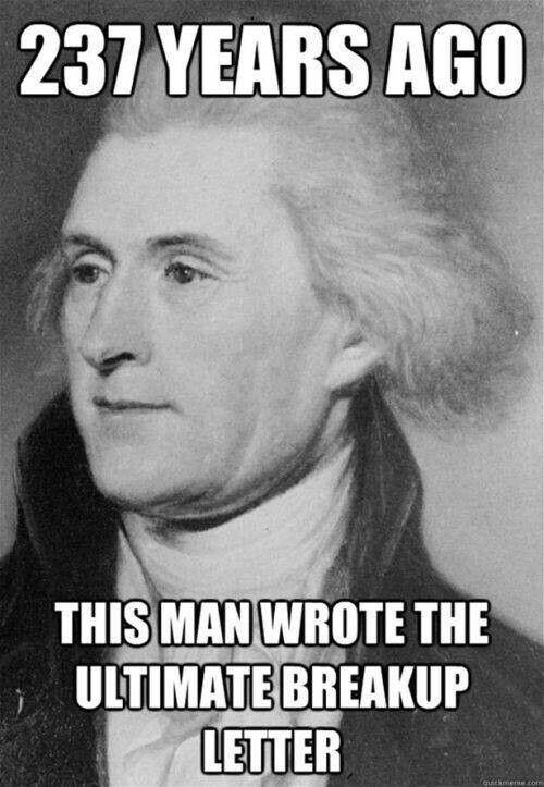 Thomas Jefferson, Declaration of Independence; 1776