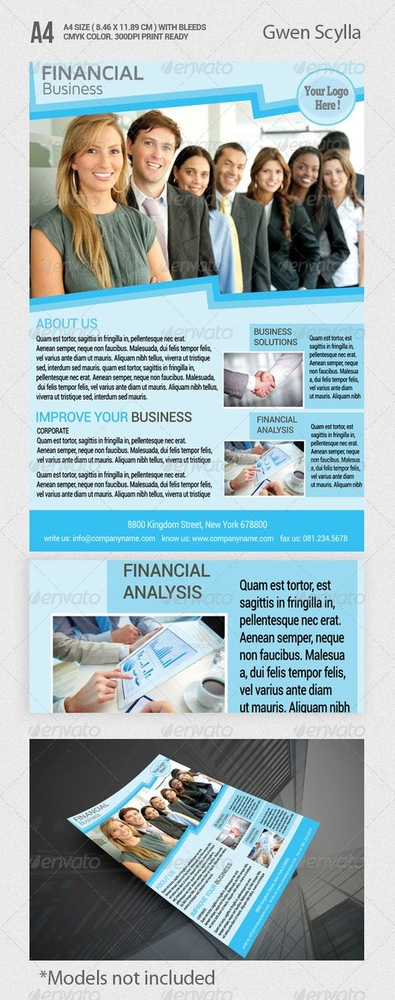 financial business flyer templates adobe photoshop flyer financial business flyer professional colorful and clean layout great for promotional s flyer you business