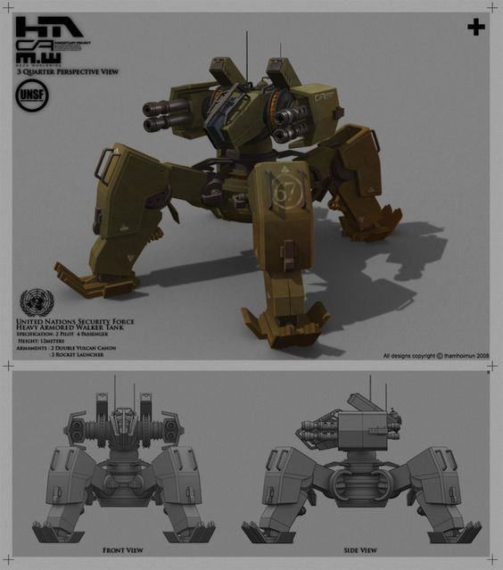 UNSF Walker Tank 67 by NuMioH.deviantart.com on @deviantART