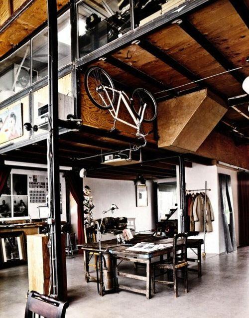 lofted workshop space
