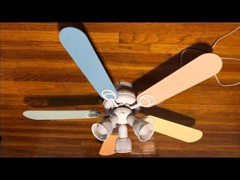 Hampton Bay Carousel Ii Ceiling Fan 44 Pastel Colored Blades Youtube Ceiling Fan Fan Ceiling