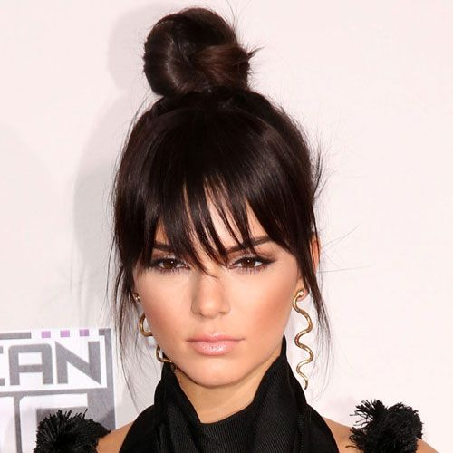 65 Cute Bun Hairstyles For Women To Get In 2020 Hair Styles Kendall Jenner Skin Long Hair Styles