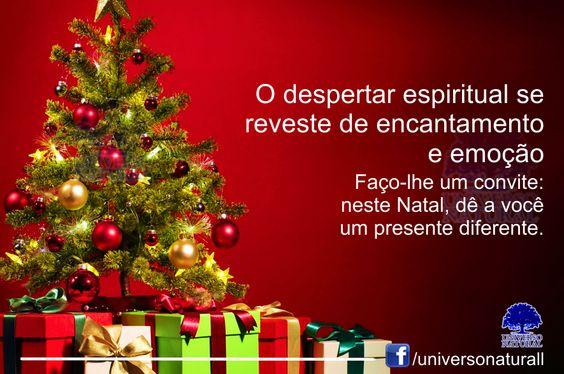 Faço-lhe um convite: neste Natal, dê a você um presente diferente. Aproveite esta época, pois ela é revestida de uma energia e vibração singulares. O Natal relembra o nascimento de Jesus Cristo e a...
