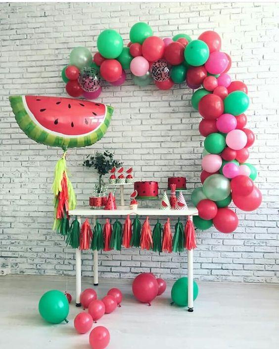 cha de bebe frutas