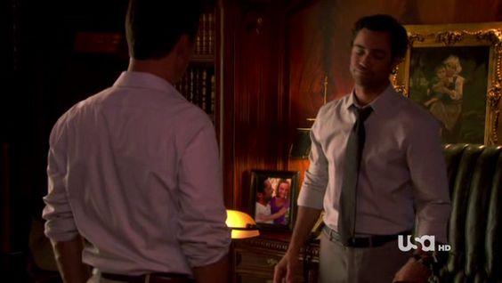 "Burn Notice 4x12 ""Guilty as Charged"" - Michael Westen (Jeffrey Donovan) & Adam Scott (Danny Pino)"