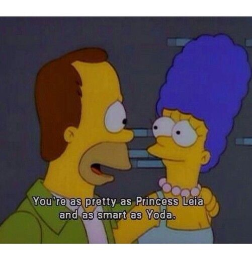 Homero marge  ' You're as pretty as Princess Leia and as smart as Yoda ' aaww